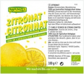 Zitronat ohne Weißzucker BIO 100 g