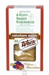 4-Korn Sesam Knäckebrot, 8x150 g, glutenfrei, Naturkorn Mühle