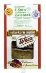 4-Korn Vollkorn Zwieback, 4 x 150 g, glutenfrei, Naturkorn Mühle
