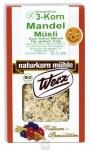 3-Korn Mandel Müsli, 2 kg, glutenfrei, Naturkorn Mühle