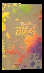 Schlachter 2000 Taschenausgabe mit Parallelstellen farbiger Einband Farbkleckse bunt