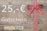 Gutschein zum Einkauf im NEWSTARTCENTER 25,- €