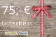 Gutschein zum Einkauf im NEWSTARTCENTER 75,- €