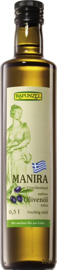 Olivenöl MANIRA, nativ extra BIO 0,5 l BIO  RAPUNZEL