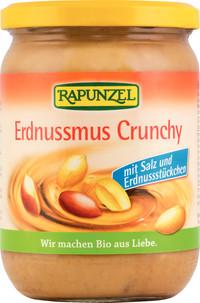 Erdnußmus Crunchy mit Salz 500 g von Rapunzel