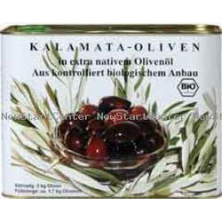 Kalamata Oliven in Öl BIO Abtropfgewicht: 3kg
