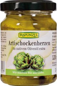 Artischockenherzen in Olivenöl 120 g BIO