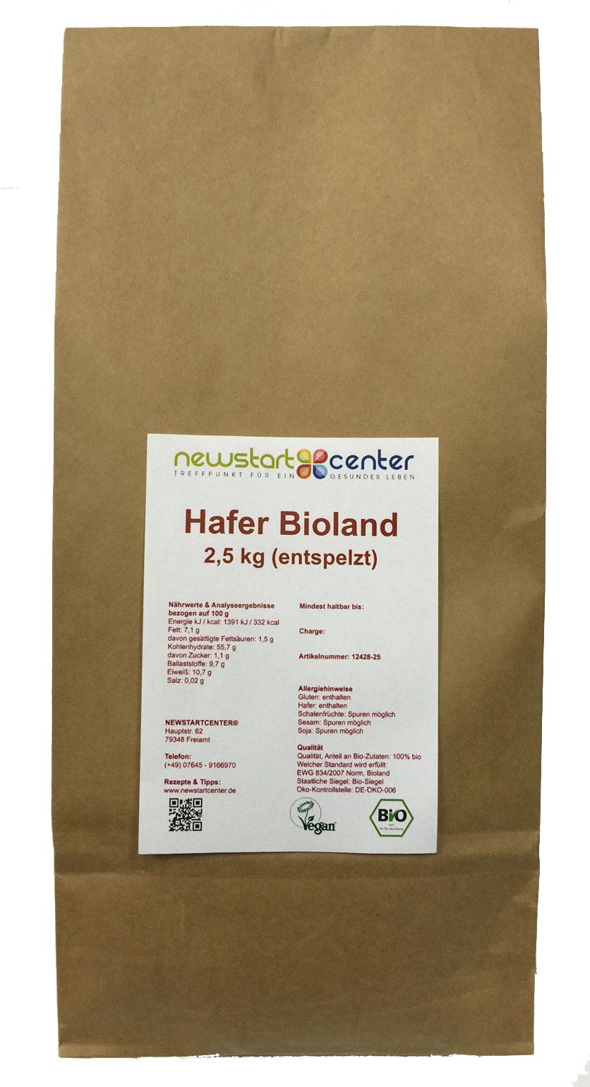 Hafer entspelzt 2,5 kg Bioland
