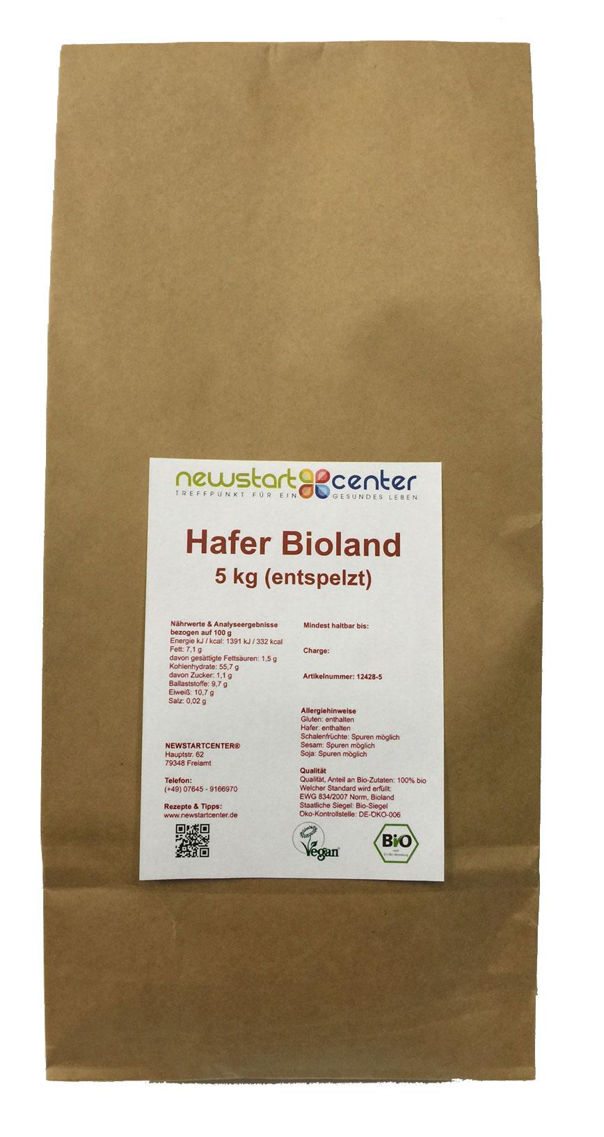 Hafer entspelzt 5 kg Bioland