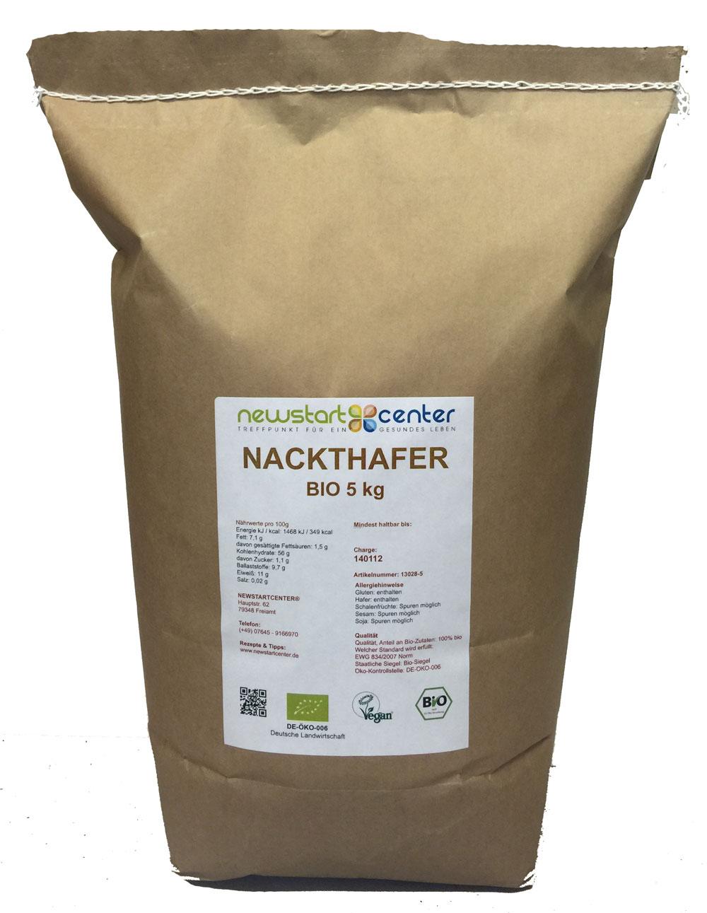 Nackthafer Bio 5 kg