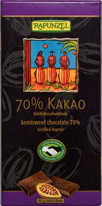 Edelbitter Schokolade 70% Kakao (RAPADURA) 80 g BIO