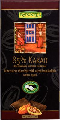 Bitterschokolade 85% Kakao 80 g BIO