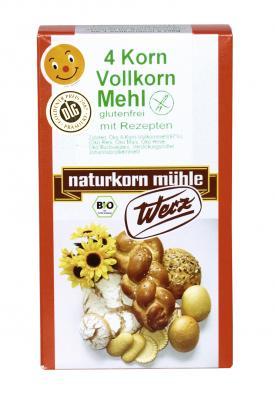 4-Korn Vollkornmehl, 5 kg, glutenfrei, Naturkorn Mühle