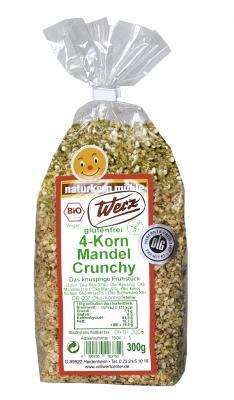 4-Korn Mandel Crunchy, 1,5 kg, glutenfrei, Natrukorn Mühle