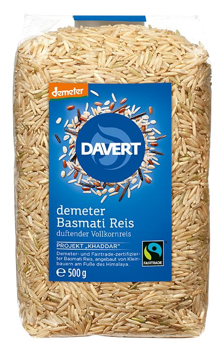 Echter Basmati-Reis, braun 500 g   DAVERT FAIRTRADE