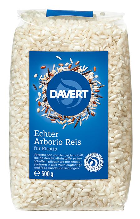 Arborio Reis BIO weiß 500 g für Risotto DAVERT