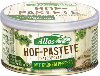 Gourmet- PasteHof-Pastete Grüner Pfeffer 12x125g BIO Alloste Grüner Pfeffer 125 g ALLOS