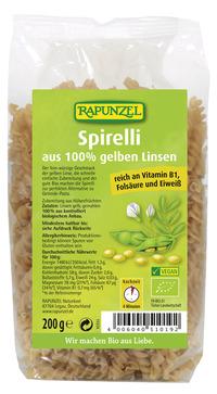 Gelbe Linsen Spirelli 200 g BIO Rapunzel