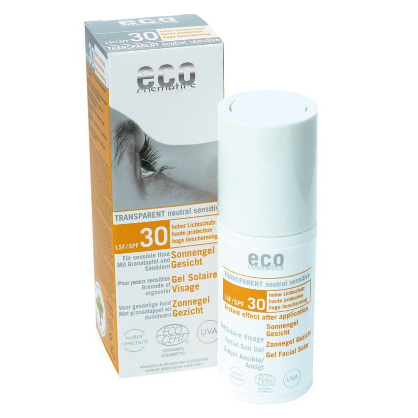 Eco cosmetics Sonnengel Gesicht LSF 30, 30ml