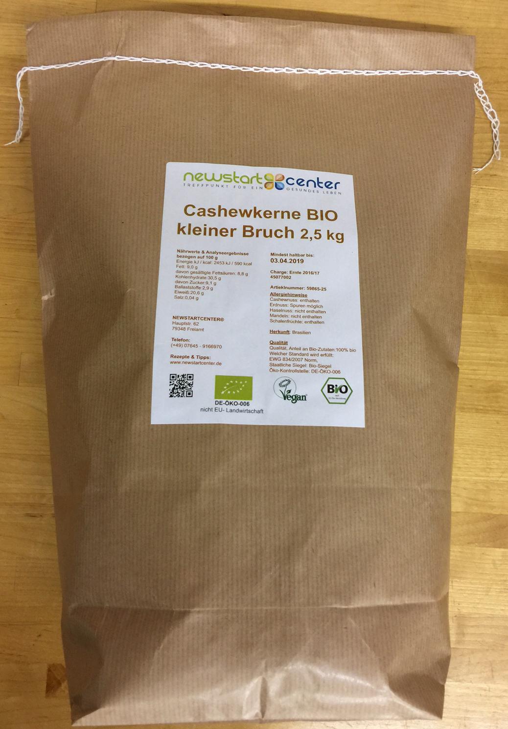 Cashew-Kerne, BIO kleiner Bruch 2,5 kg