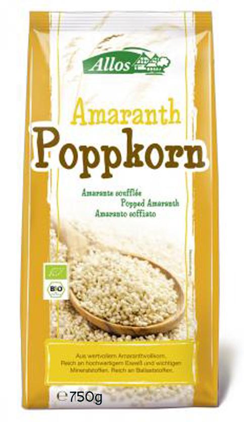 Amaranth-Poppkorn BIO 750g ALLOS