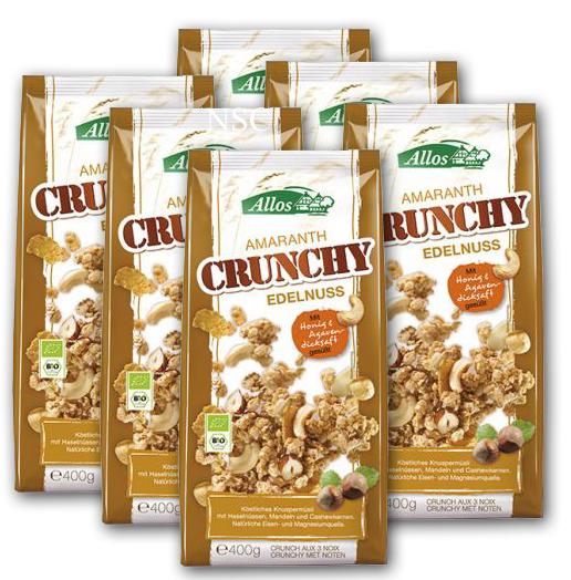 Amaranth Crunchy Edelnuss BIO 6x400 g ALLOS