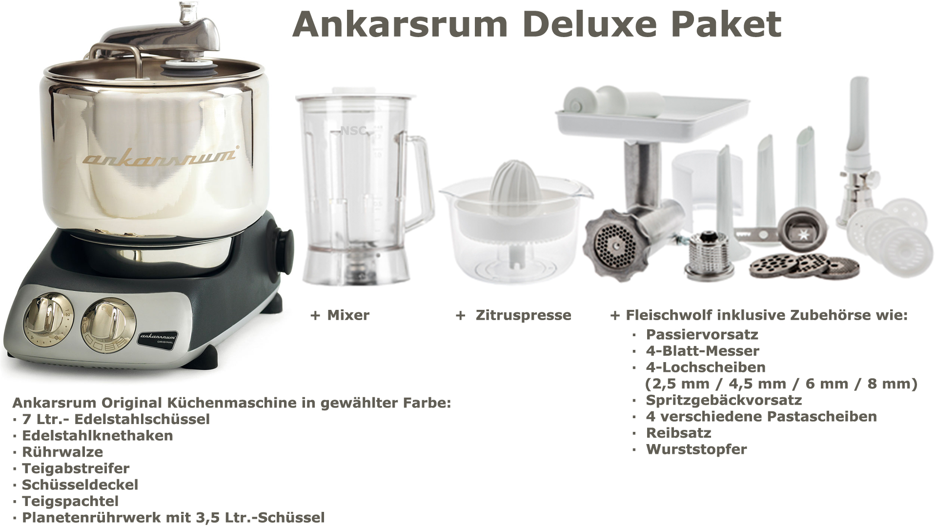 Ankarsrum Assistent Deluxe Package Black