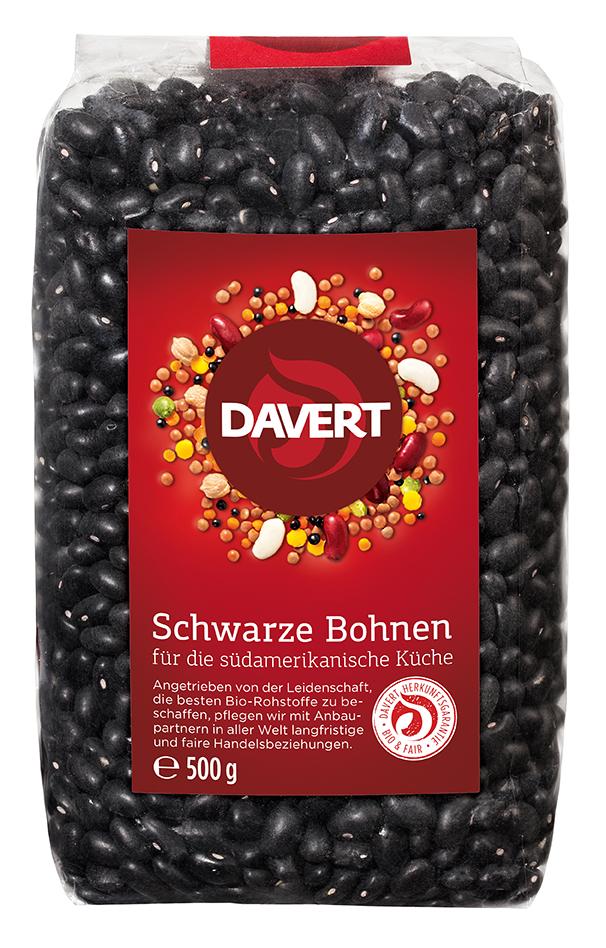 Bohnen, schwarz 500 g von DAVERT