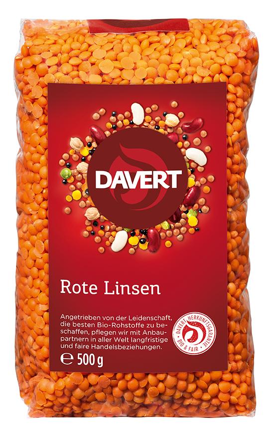 Linsen, rot 500 g von DAVERT