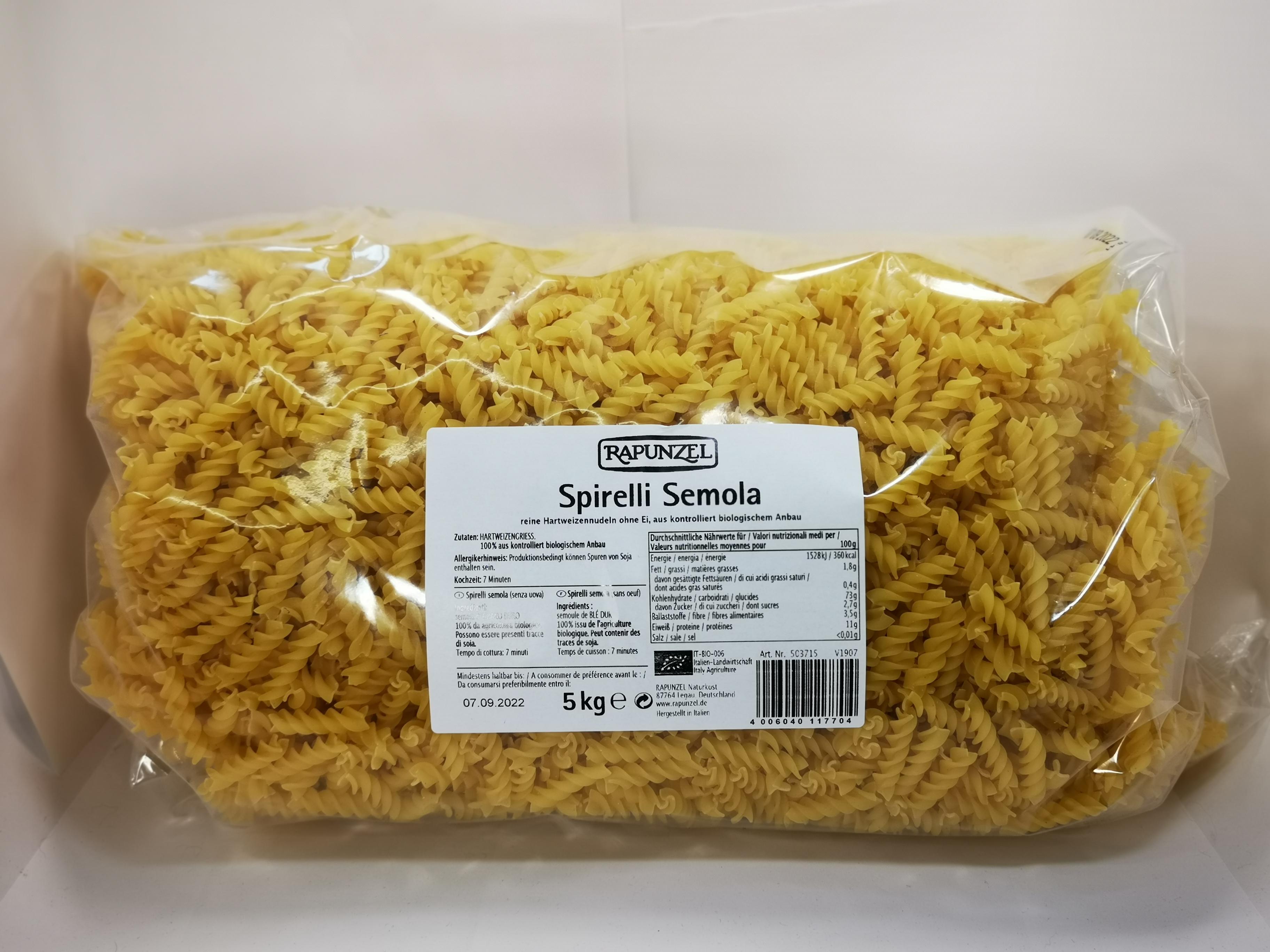Spirelli Semola 5kg BIO