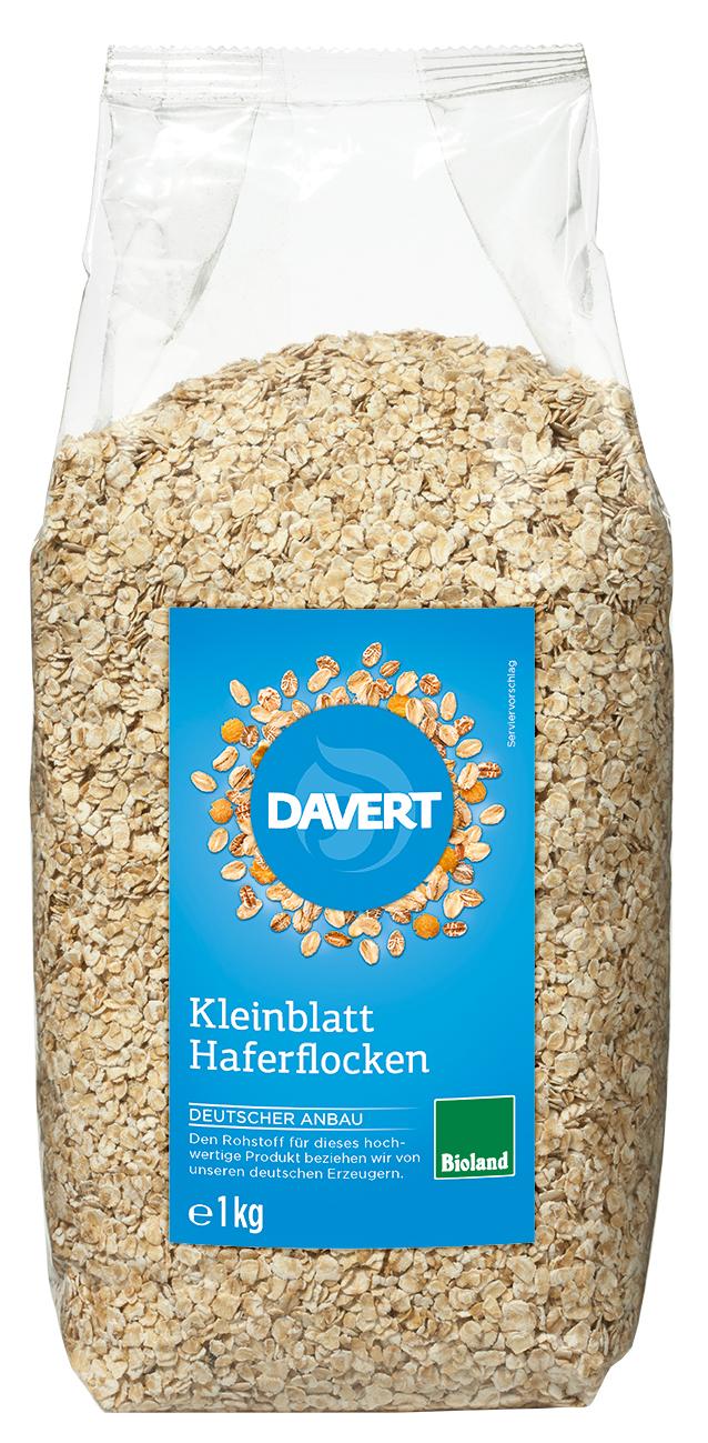 Haferflocken Kleinblatt BIO 1 kg  DAVERT