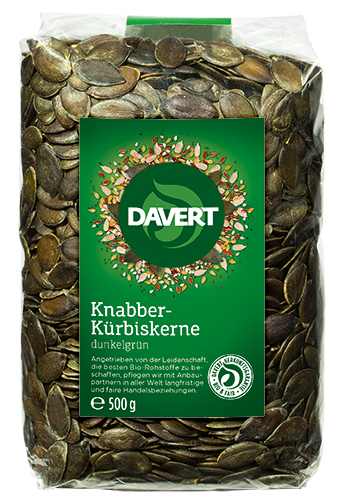 Knabber Kürbiskerne BIO 500 g von DAVERT