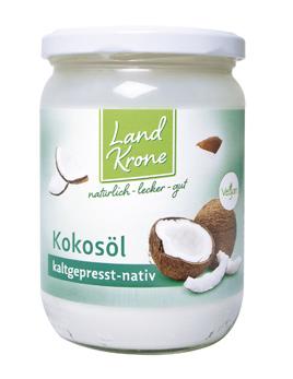 Landkrone Bio Kokosöl 400g  (Glas)